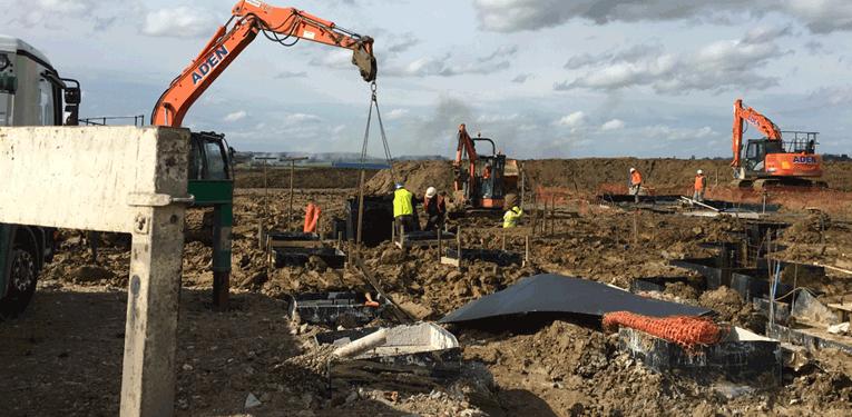 Construction of Bierton Crematorium
