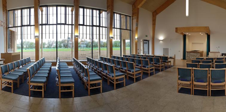 Bierton Crematorium view inside chapel